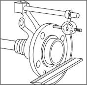 Első kerékagyak tárcsával érintkező felületének ellenőrzése