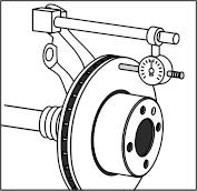 Legnagyobb tárcsa oldalütés 0,090 mm lehet, a fékbetéttel érintkező felület külső kerületétől kb. 5 mm-re mérve