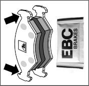 Fékbetét vezetők tisztítása és csúszófelületek kenése EBC LUBE001, vagy más hőálló pasztával