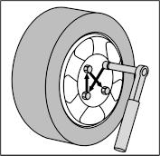 A kerékcsavarok meghúzáshoz nyomatékkulcsot használjon