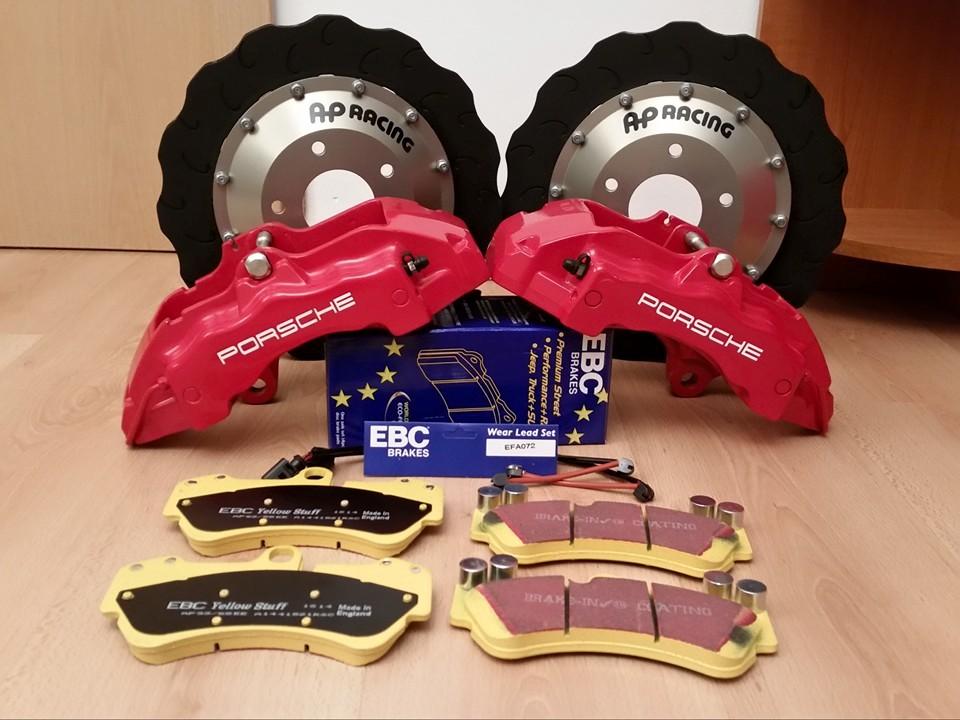 EBC fékbetétek Porsche féknyergek AP tárcsák